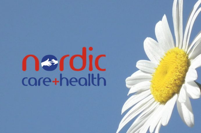 Nordic Care Website Cover Image by Orangedrop Web Design Newport